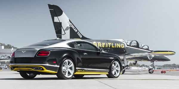 Les dessous de la Bentley Continental GT Speed Breitling Jet Team