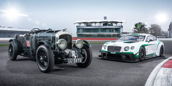 Les Bentley Blower et Continental GT3 réunies à Silverstone