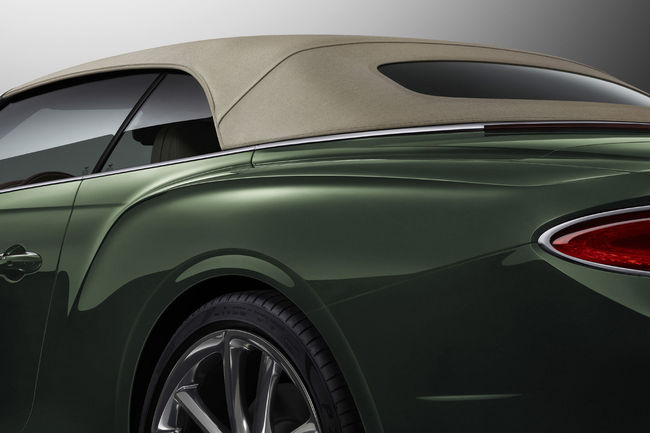 Capote en Tweed pour la Bentley Continental GTC