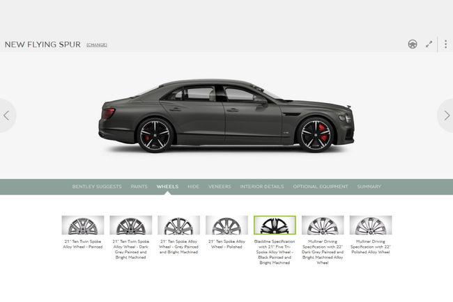 Nouvelle Bentley Flying Spur : le configurateur