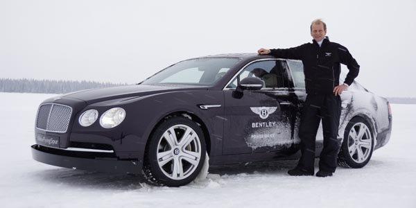 Testez la Bentley Flying Spur sur neige