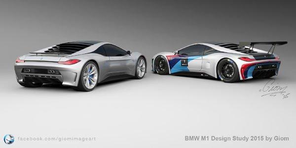 BMW M1 design study par Giom Mouton