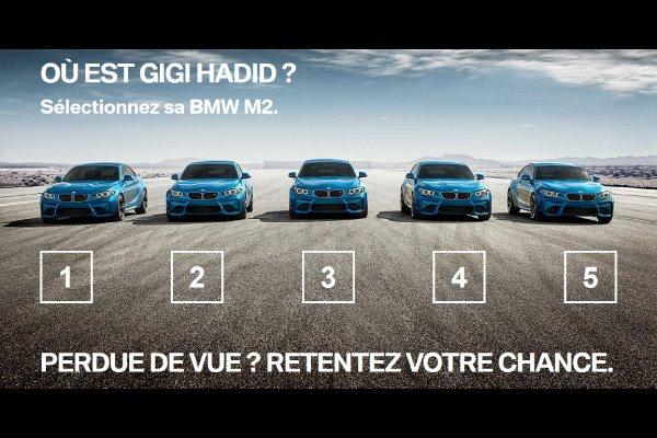 Gigi Hadid joue au bonneteau en BMW M2