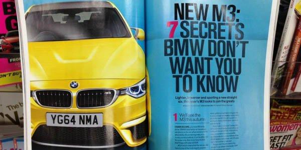 BMW M3 F30 : elle se montre en avance