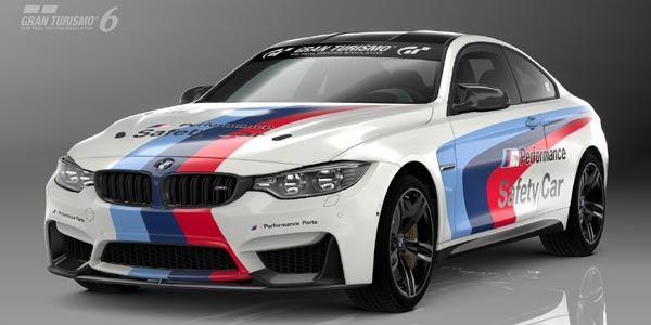 Une BMW M4 Safety Car dans Gran Turismo 6
