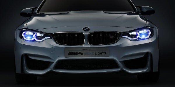 Une BMW M4 Concept Iconic Lights mise en lumière au CES de Las Vegas