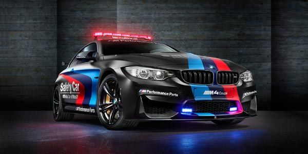 La BMW M4, Safety Car du championnat MotoGP 2015