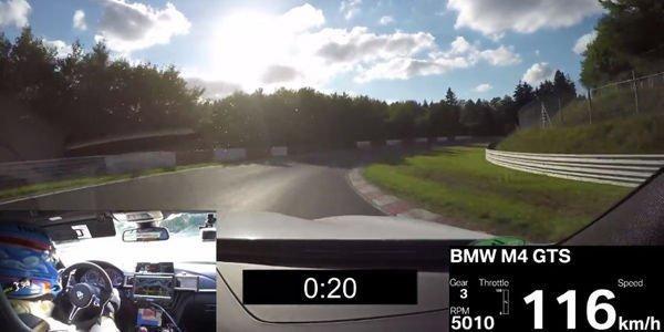 BMW M4 GTS en 7'28 sur le Nürburging : la vidéo