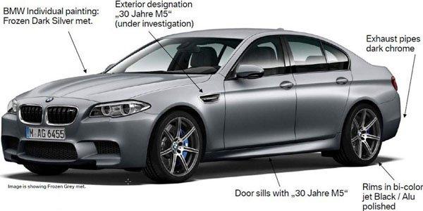 BMW M5 30ème Anniversaire : 600 ch au menu
