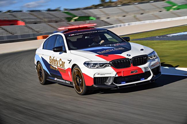 Début de saison pour la BMW M5 MotoGP Safety Car
