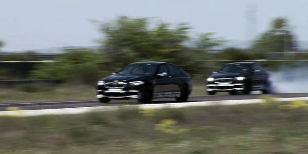La BMW M5 à Miramas