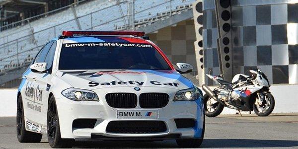 BMW M5 F10 safety-car en moto GP