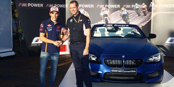 Une BMW M6 Cabriolet pour Marc Marquez