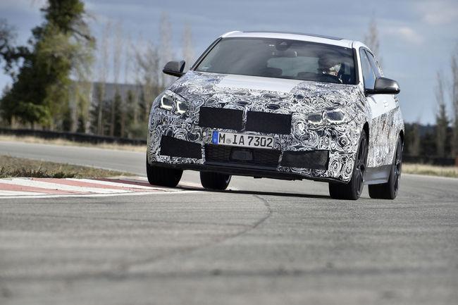 La nouvelle BMW Série 1 en essais à Miramas
