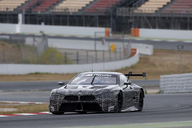 La BMW M8 GTE en essais à Barcelone