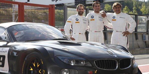 Déco spéciale pour la BMW Z4 de Zanardi à Spa