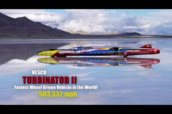 Record de vitesse à 800 km/h pour le Turbinator II