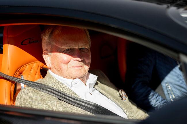 Dr. Wolfgang Porsche en visite chez Bugatti