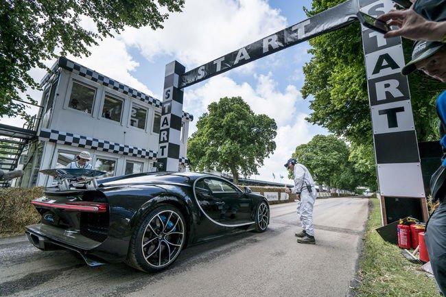 A bord de la Bugatti Chiron à Goodwood
