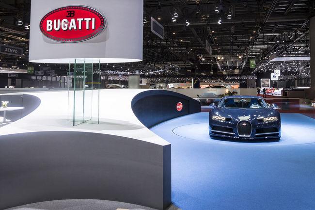Genève : le design du stand Bugatti primé