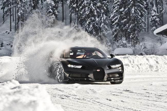 Hermann Maier découvre la Bugatti Chiron