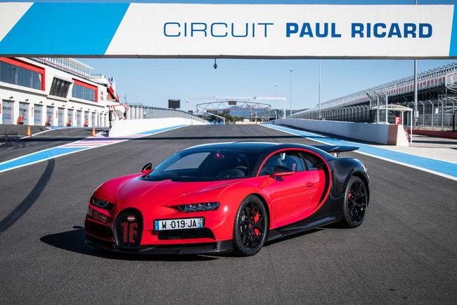 La Bugatti Chiron en démo sur le circuit du Castellet