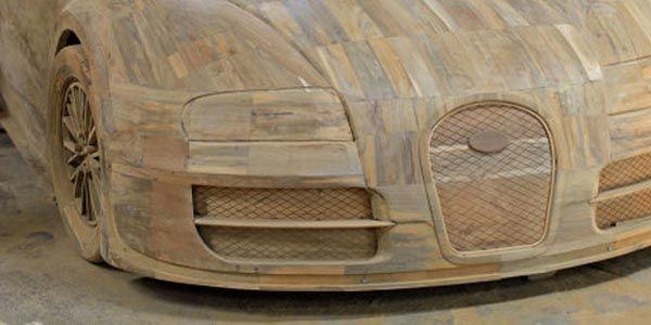 Insolite : une réplique de Bugatti Veyron... en bois