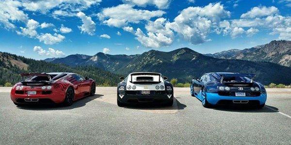 Une Bugatti Veyron l'Or Rouge flashée à 379 km/h