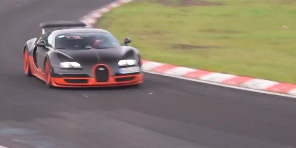 Bugatti Veyron Super Sport sur le Nürb