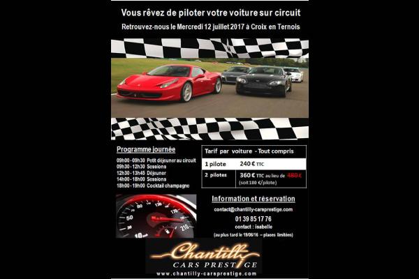 Prenez la piste à Croix en Ternois avec Chantilly Cars Prestige