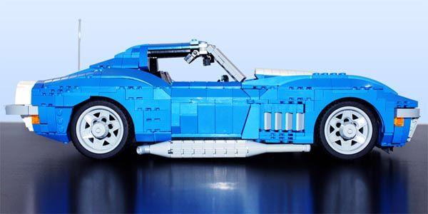 Une Corvette Stingray de 1969 en Lego