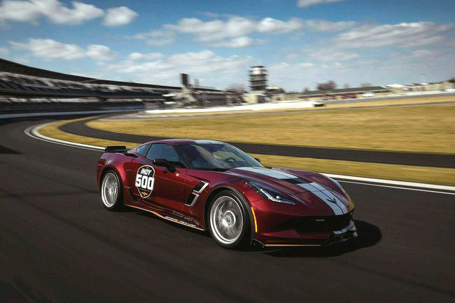 La Chevrolet Corvette Grand Sport pace-car d'Indy 500