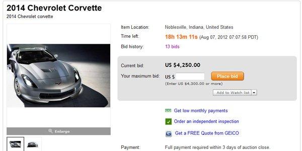 La Corvette C7 dévoilée sur Ebay ?