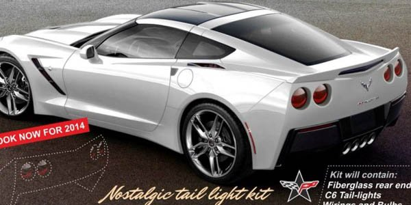 """Un kit """"feux ronds"""" pour la Corvette C7"""