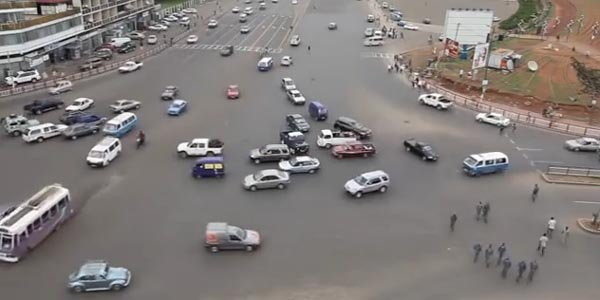 Circulation anarchique à Addis Abeba