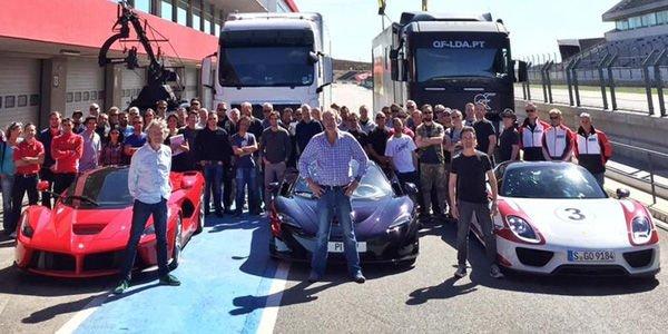 Jeremy Clarkson réunit les trois hypercars du moment