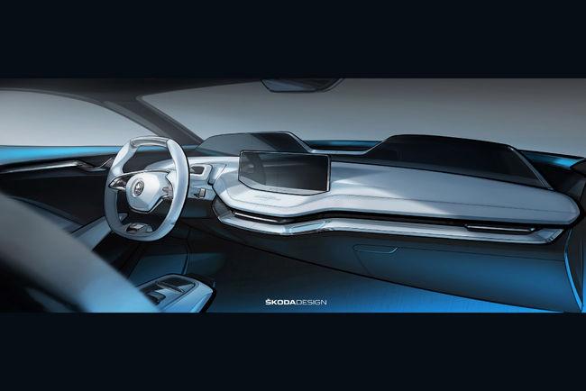 Skoda présente le cockpit de son concept Vision E