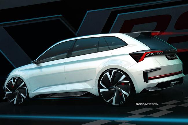 Skoda dévoile les courbes et la motorisation du concept Vision RS