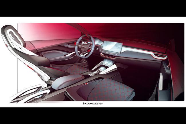 Skoda dévoile l'habitacle de son concept Vision RS