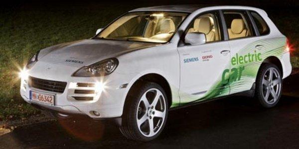 Un Porsche Cayenne électrique