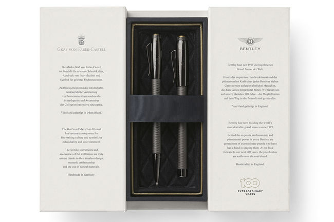 Graf von Faber-Castell fête les 100 ans de Bentley