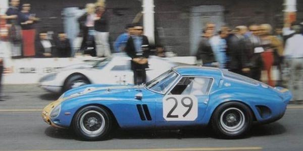 Une Ferrari 250 GTO accidentée