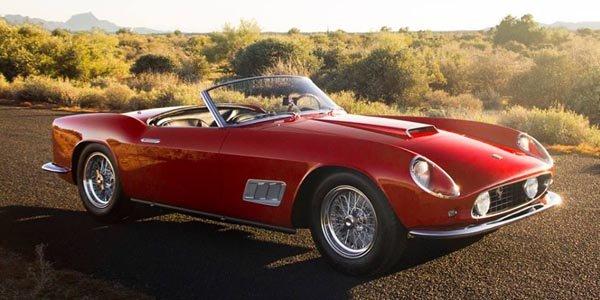 Une 250 GT California Spider aux enchères