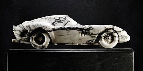 Ferrari 250 GTO en marbre par Lapicida