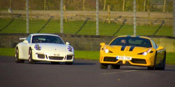 Match : Ferrari 458 Speciale vs Porsche 911 GT3