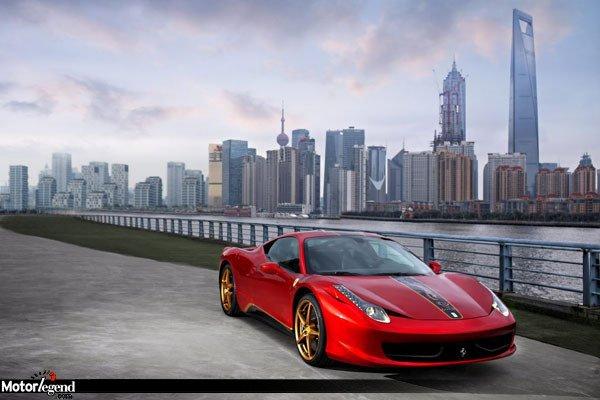 Tarif de la Ferrari 458 China Edition