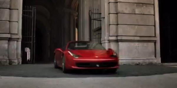 Ferrari 458 Spider en vidéo promotion