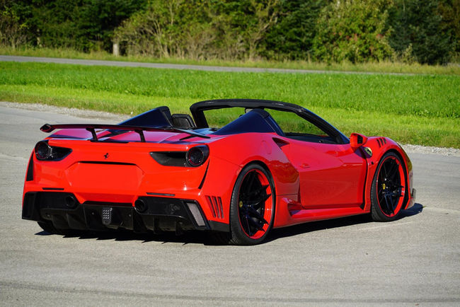 Ferrari 488 Spider N-Largo par Novitec Rosso