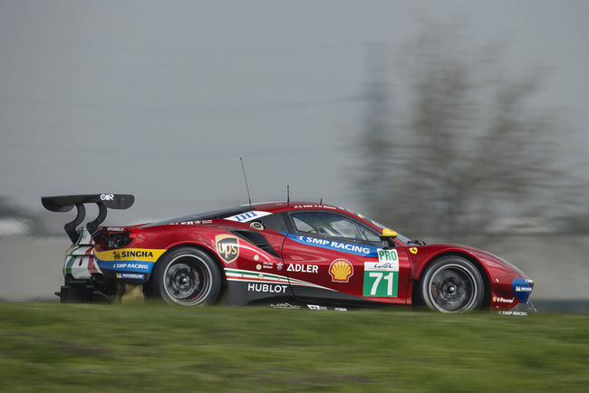 WEC : la Ferrari 488 GTE Evo en piste à Fiorano