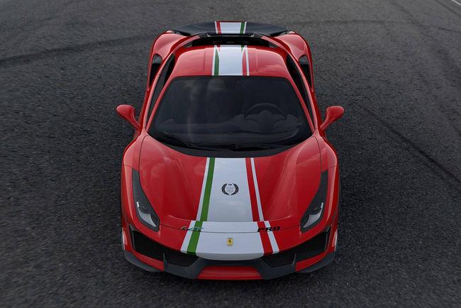 Les quatre Ferrari 488 Pista Piloti en images